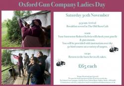 Our next Ladies Day - Sat 30th Nov