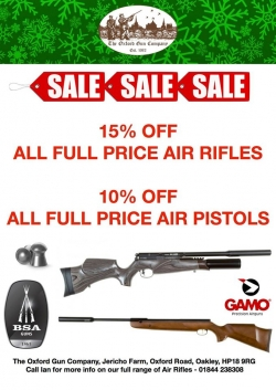 AIR RIFLE SALE!