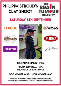 Philippa Stroud`s Charity Shoot 5th September 2020
