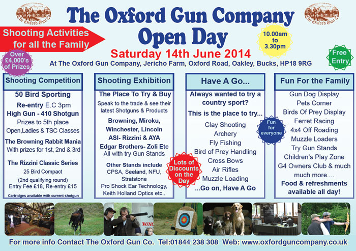 Open Day at The Oxford Gun Company poster